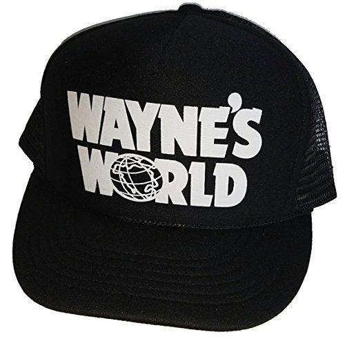 ThatsRad Wayne's World Costume Halloween Mesh Trucker Hat Cap Snapback Waynes