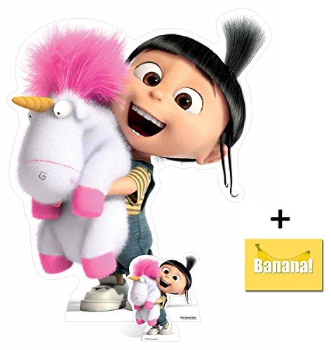 Fan Pack - Agnes and Fluffy Unicorn Despicable Me 3 Minions Lifesize and Mini Cardboard Cutout / Standup / Standee - Includes 8x10 Star Photo