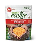 ecoLife Organic Red Lentils, 2 Pound