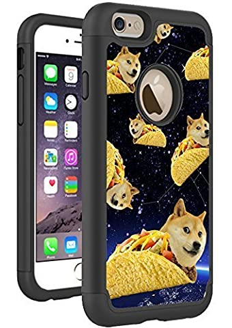 iPhone 6S Plus iPhone 6 Plus Case Cover By HybCase Featuring Doge Shiba Taco Doge Space Galaxy Funny Meme Fun iPhone 6S Plus Hybrid Protective Cases For Girls Teens (Doge Phone Cover)