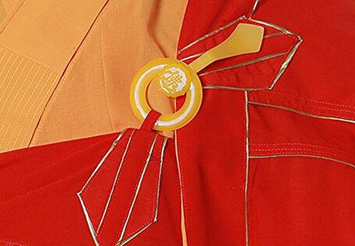Xiangpai Monaco Buddista Chan Yi Monaco Talare - Taoismo Cinese Tradizionale Buddha Shaolin Accappatoio Thai Manica Lunga Arte Marziale Kung Fu Wushu Uniformi Camicia Culturale Impostata Rosso Unisex