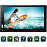 Carlike 7 Double Din Touch screen In Dash Car Stereo MP5 Receiver Audio Video Player Bluetooth FM Radio MP3/TF/USB/AUX-in/wireless Remote