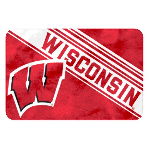 Officially Licensed NCAA Wisconsin Badgers Raschel Rug with Non-Skid Backing, 20