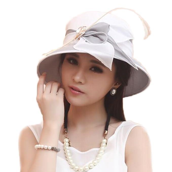 June s young - Gorro de pescador - para mujer Blanco White gray hat Talla  única  Amazon.es  Ropa y accesorios 3ca1522104c