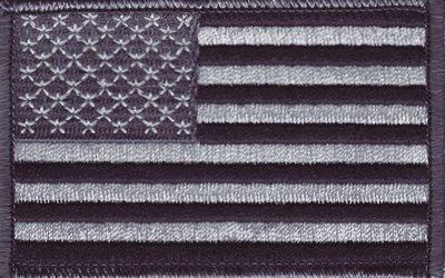 USA - Black and Gray iron-on embroidered - Black Flag And Gray