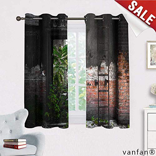 - Big datastore Custom Made Curtain for weddingsHippie Wallpaper with Mushrooms,Provides Utmost Privacy W72xH63