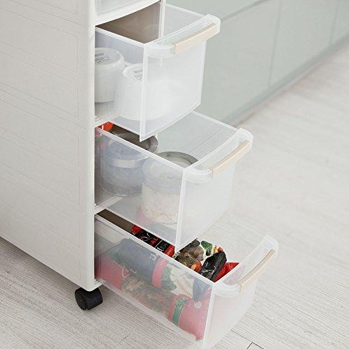 sobuy rollwagen mit vier sch ben nischenwagen schubladencontainer k chenregal frg41 hg. Black Bedroom Furniture Sets. Home Design Ideas