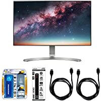 LG 24 Screen LED-Lit Monitor (24MP88HV-S) with Xtreme Performance TV/LCD Screen Cleaning Kit, Xtreme 6 Outlet Power Strip & 2x General Brand HDMI to HDMI Cable 6