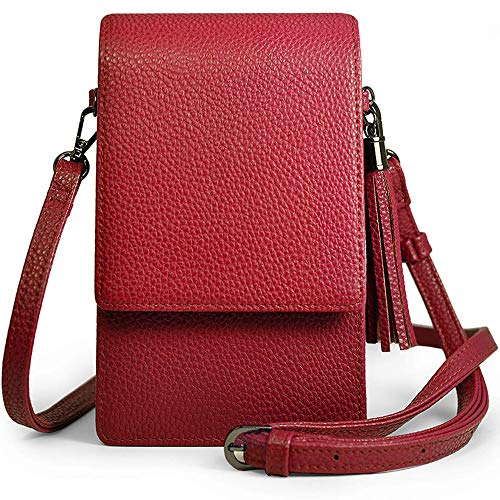 Small Crossbody Bag Cell Phone Purse Wallet Lightweight Roomy Travel Passport Bag Crossbody Handbags for Women ()