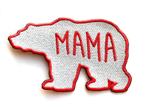 Mama Bear Motherly Love Embroidered Clothing Patch (Mama Patch)