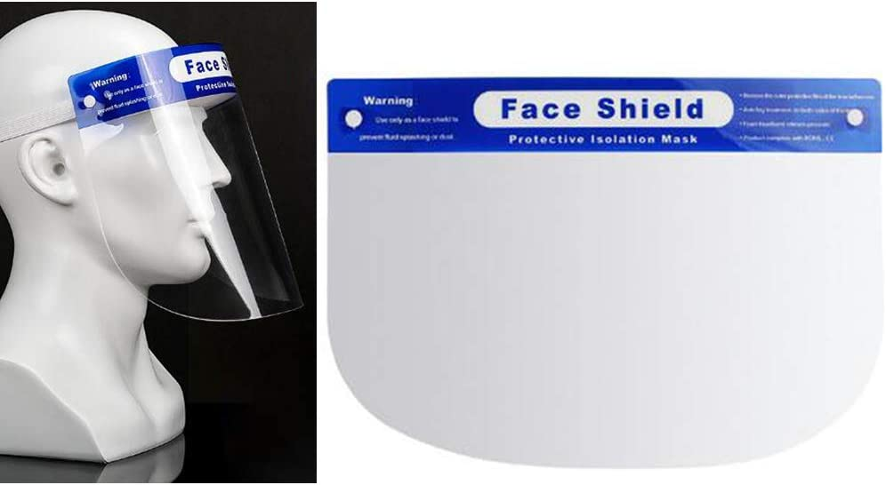 HUOFEIKE Schutzvisier Face Shield Klares Visier Flip Up Transparent Face Shield Anti Splash Elastic Band Full Face-Abdeckung F/ür Kochen Werkstatt Reinigung
