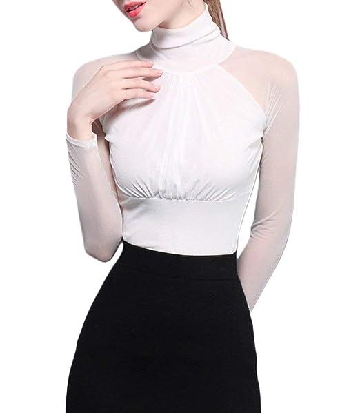 Blusas Mujer Elegantes Moda Casuales Túnica Suave Camisetas Primavera Otoño Basic Shirts Manga Larga Off Shoulder