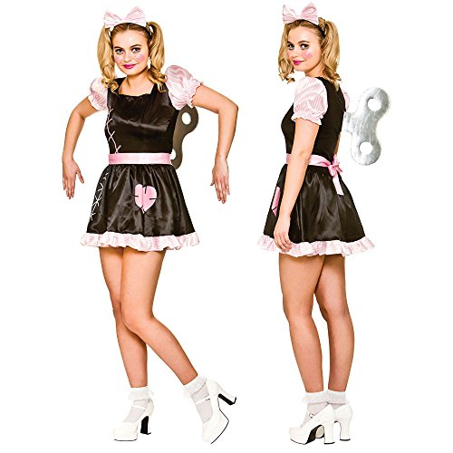 Adults Ladies Clown Wind Up Doll Costume for Circus Funfair Parade Cosplay US Size 18 - 20]()