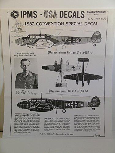 Miniature Aircraft Usa - IPMS-USA 1/72 & 1/48 & 1/32 Scale Decals--German WW II Bf 110