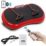 Super Deal Crazy Fit Full Body Vibration Platform Massage Machine Fitness W/Bluetooth (Red)