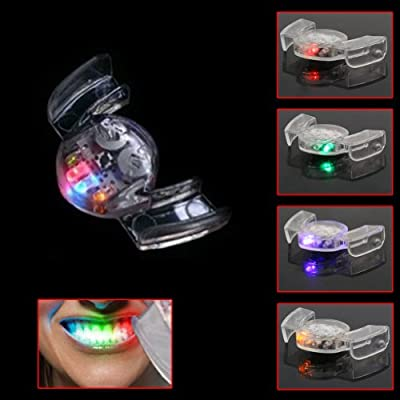 ReFaXi 4 Colors LED Flashing Light Flash Mouth Guard Piece Mouthpiece Mouthguard Party: Toys & Games