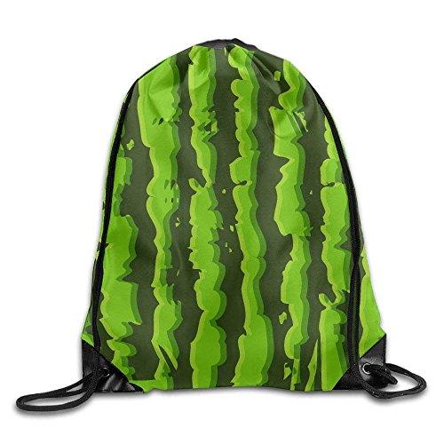 Seamless guolinadeou Print Backpack Bag Bags Gym Sport Bag Shoulder Green Drawstring Rucksack Watermelon rpqfEwp