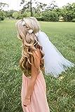 Flower Crown Veil - Bachelorette Veil - White Flowers (NEW)