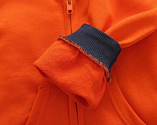 Omiky® Säuglingskleinkind scherzt Baby-Mädchen-Karikatur-Tier-mit Kapuze Reißverschluss-Oberseiten-Kleidung-Mantel Orange