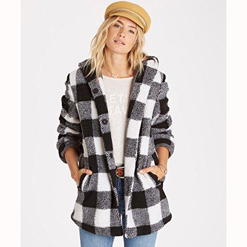 Billabong-Womens-into-the-Forest-Super-Plush-Plaid-Hooded-Coat