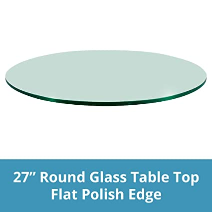 Polish Round Table.Dulles Glass And Mirror Glass Table Top Flat Polish Edge Tempered Glass 27 L Round