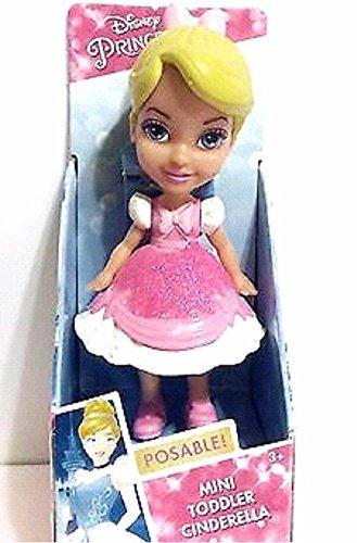 Disney Princess My First Mini Toddler Cinderella Pink Dress Poseable Doll]()