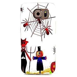 Halloween Monster Pumpkin Spider Web Good 3D Case Hard Plastic for Samsung Galaxy S6 Edge