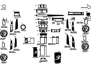 Rdash Dash Kit Decal Trim for Mazda Mazda3 2004-2009 - Wood Grain (Burlwood Honey)