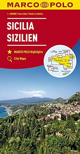 MARCO POLO Karte Italien Blatt 14 Sizilien 1:200 000 (MARCO POLO Karten 1:200.000)