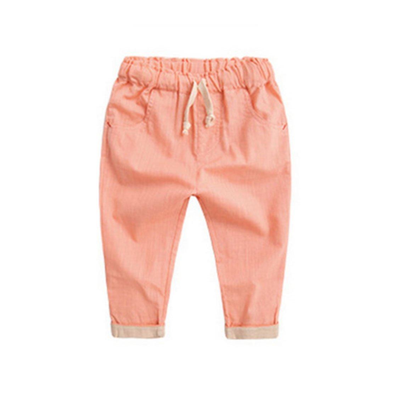 daqinghjxg Spring Boy Kids Harem Pants Children Lovely Toddler Candy Color Trousers