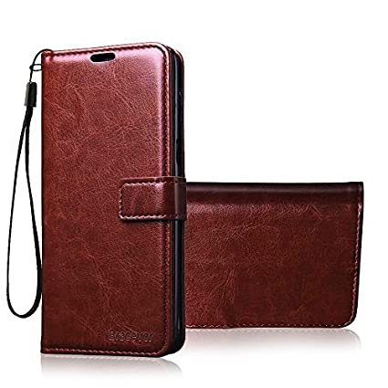 newest a1855 0c624 Bracevor Flip Cover Leather Case | Inner TPU | Wallet Stand for Xiaomi Mi  A1 - Executive Brown