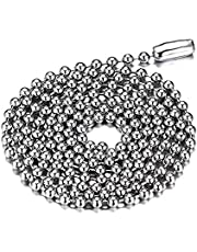 316L Army Stainless Steel Bead Chain Necklace For Men and Women