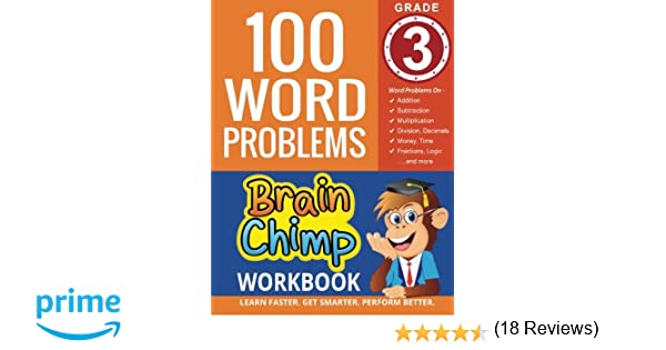 Counting Number worksheets geometry worksheets year 9 : Amazon.com: 100 Word Problems : Grade 3 Math Workbook ...