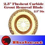 Carbide Semi Round Grout Remove Oscillating Multi Tool Saw Blades for Fein Multimaster Bosch Multi-x Craftsman Nextec Dremel Multi-max Ridgid Dremel Chicago