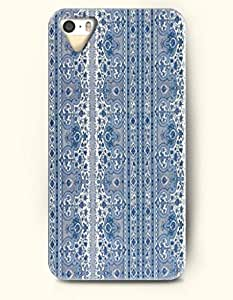 SevenArc Phone Cover Apple iPhone case for iPhone 4 4s -- Steel Blue Floral Pattern