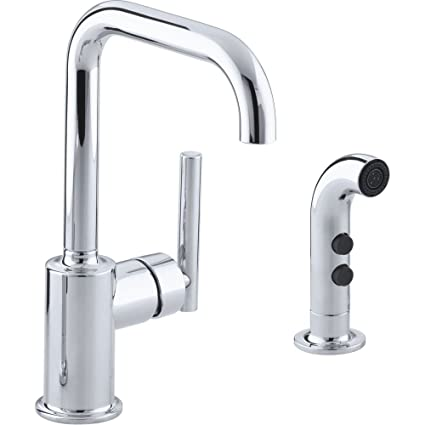 Kohler K 7511 Cp Polished Chrome Purist Kitchen Faucet With