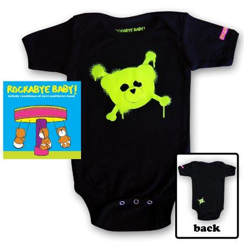 Rockabye Baby! Lullaby Renditions of Dave Matthews Band + Organic Baby Bodysuit (Green) -
