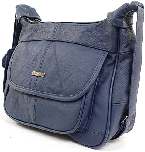 Bag Black Brown with Mobile Fawn Handbag Pocket Ladies Leather Beige Tan Shoulder Blue Phone ywBzZ8EZ