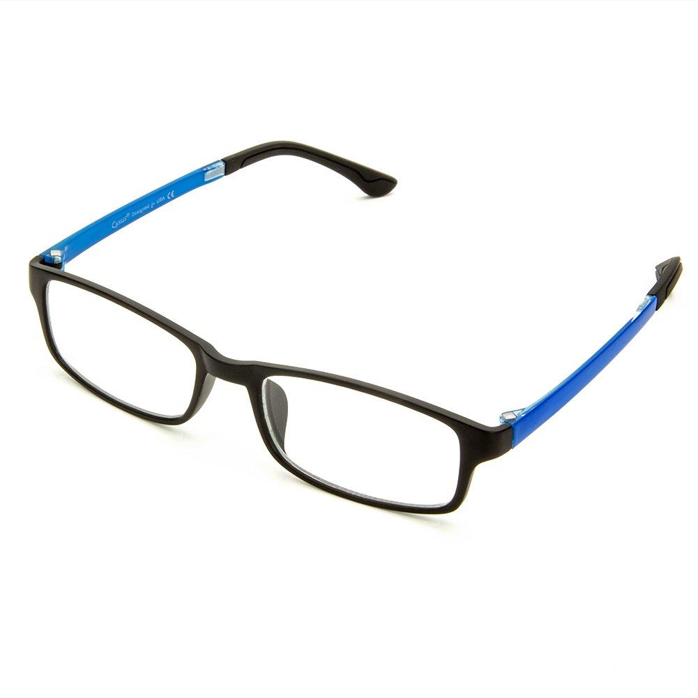 Cyxus Blue Light Blocking (Lightweight TR90) Glasses for Anti Eye Strain Headache Computer Use Eyewear, Men/Women (Blue)