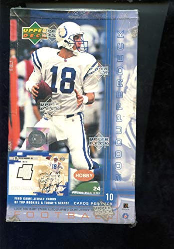 2000 Upper Deck Set NFL Football Card HOBBY Wax Pack Box Tom Brady - Rookie 2000 Upper Card Deck