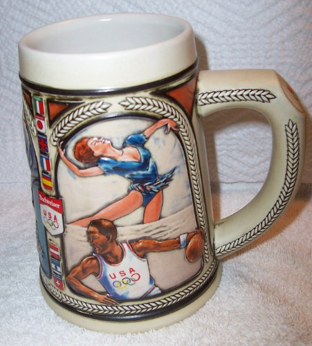Budweiser Beer Stein Mug 1992 USA Olympic Team Winter and Summer Combined ()