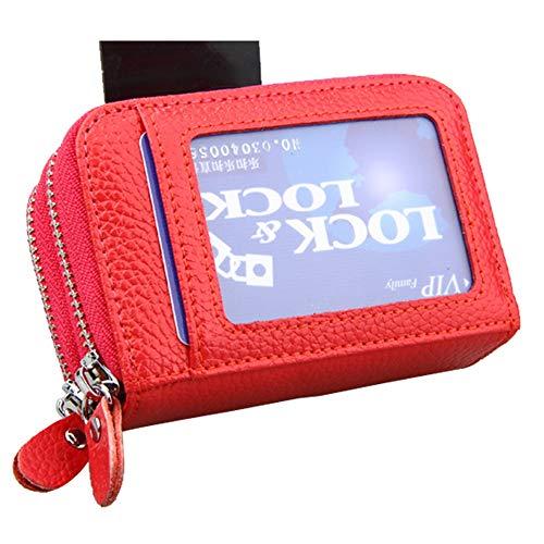 Véritable couleur Porte Cuir Classique De cartes Madame En Rouge monnaie Crédit Jaune Fermeture Avec Portefeuille Glissière Porte À Yuflangel qnEaPP
