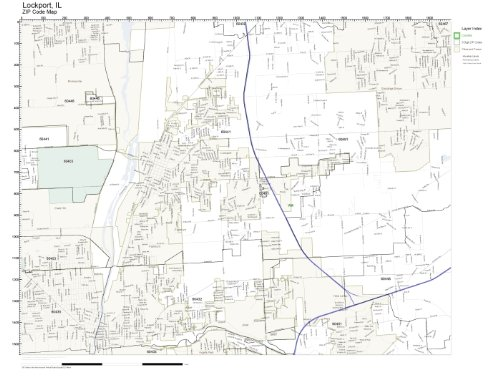 ZIP Code Wall Map of Lockport, IL ZIP Code Map Laminated (Zip Wall Map Code)