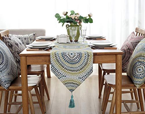 YJBear Polyester Bohemian Flower Pattern Breathable Jacquard Weave