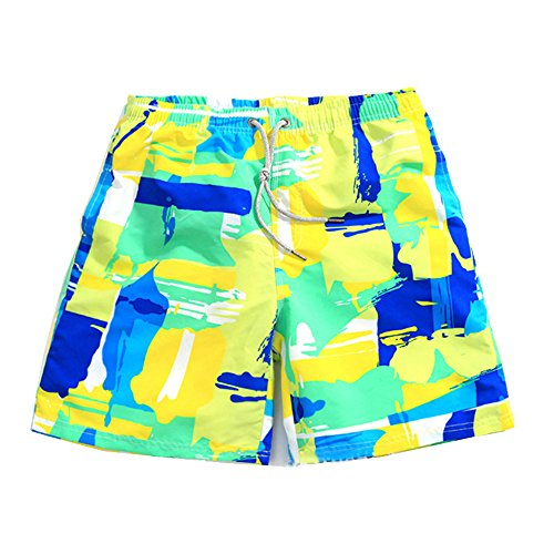 Lifeisbest Men's Summer Board Short colourful Beach Swim Trunks(M)