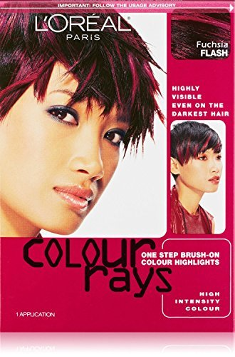 L'oreal Paris Colour Rays Hair Color, Fuschia Flash (2 Pack) (Color Rays Hair Dye)