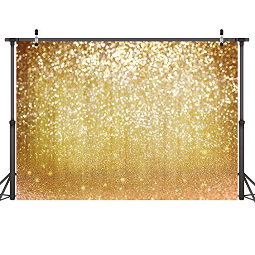 LYWYGG 7x5ft Vinyl Photography Backdrop Silver Particles Speckle Background Dreamy Fantasy Dreamlike Theme Metal Festive Harvest in Autumn Decorative Photography Backdrops CP-10