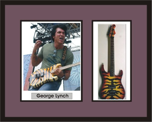 GEORGE LYNCH Guitar Shadowbox Frame Tiger