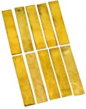 Eisco Labs Brass Electrode Strips 100 x 19mm - Pack of 10