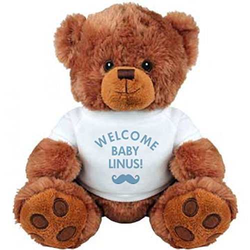 Welcome Baby Boy Linus Gift: Medium Plush Teddy Bear (Linus Org compare prices)